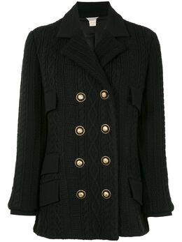 Versace Pre-Owned двубортный пиджак на пуговицах с декором Medusa OS921