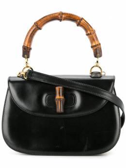 Gucci Pre-Owned сумка с бамбуковыми деталями и кожаным ремешком 00020460633