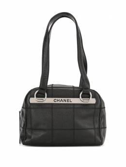 Chanel Pre-Owned сумка на плечо Choco Bar с логотипом 9978801
