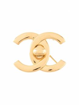 Chanel Pre-Owned брошь с логотипом B96A