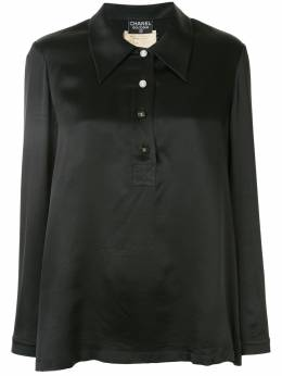 Chanel Pre-Owned блузка 1994-го года с длинными рукавами и логотипом СС 94AP03470V0350694305