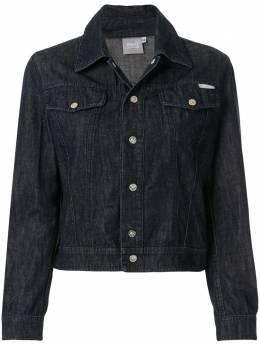 Versace Pre-Owned укороченная джинсовая куртка LL01