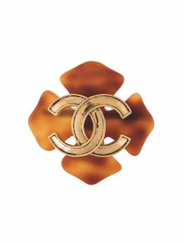 Chanel Pre-Owned брошь 1999-го года с логотипом CC B94P