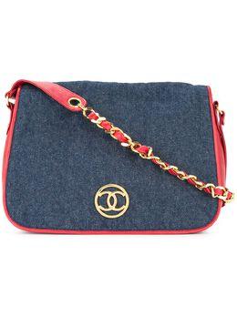 Chanel Pre-Owned стеганая сумка на плечо 91413