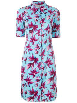Versace Pre-Owned платье-рубашка с цветочным принтом CIRCLEP
