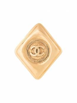Chanel Pre-Owned брошь с логотипом B1134