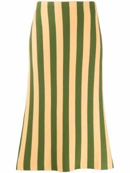 Sunnei юбка миди в полоску WS01