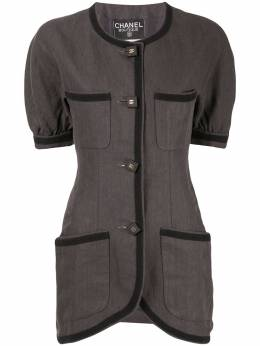 Chanel Pre-Owned блузка кроя слим на пуговицах 192889716102