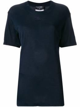 Chanel Pre-Owned футболка с вышивкой CC PO1794