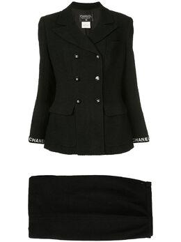 Chanel Pre-Owned костюм-двойка с юбкой и логотипом CC 94305