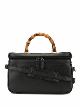 Gucci Pre-Owned косметичка Bamboo Line с ручкой и ремнем 0131222491