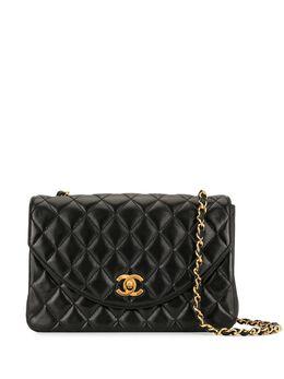 Chanel Pre-Owned стеганая сумка на плечо 1990-х годов с цепочкой 1370674