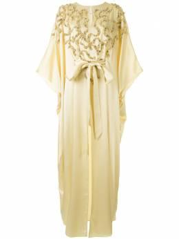 Marchesa платье с бусинами M28700