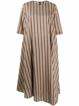 Brunello Cucinelli платье-трапеция миди в полоску MH143A4574C011
