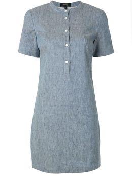 Theory платье-рубашка из ткани шамбре K0203613