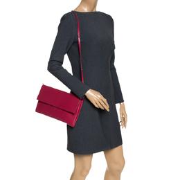 Celine Red Leather Folded Clutch Bag 287820