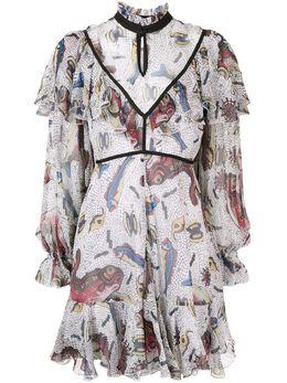 Karen Walker платье Selene с оборками 42122