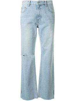 Sjyp джинсы бойфренды с прорезями PW2A3NPC149W