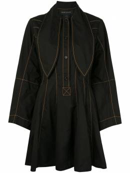 Karen Walker платье Terrestrial с декоративной строчкой 42164
