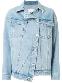 Sjyp джинсовая куртка асимметричного кроя PW2A3NJC029W
