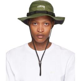 Stussy Green Nylon Boonie Hat 132966