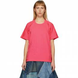 Junya Watanabe Pink Wrinkled T-Shirt JE-T028-051-1