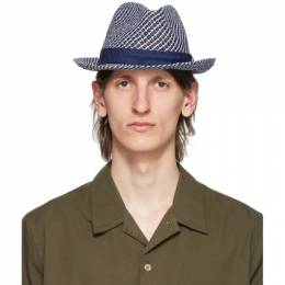 Ps by Paul Smith Navy Trilby Hat M2A-264F-AH556