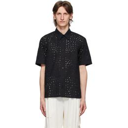 Ami Alexandre Mattiussi Black Broderie Anglaise Shirt E20HC202.425