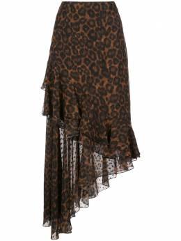 Erdem юбка Antoniette с леопардовым принтом PS204499LCDV