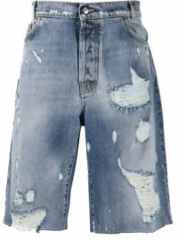 Buscemi джинсовые шорты с эффектом потертости BMS20611