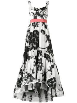 Silvia Tcherassi длинное платье Elvira с абстрактным принтом 7701227007027
