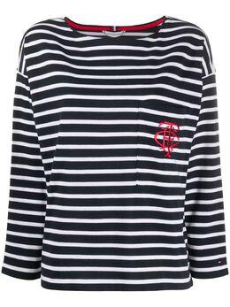 Tommy Hilfiger футболка Breton с монограммой WW0WW26786