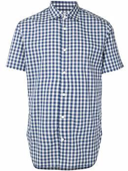 Kent & Curwen рубашка в клетку гингем с короткими рукавами K3566TM07037