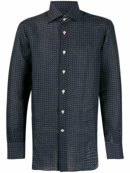 Kiton рубашка в горох с длинными рукавами H423904
