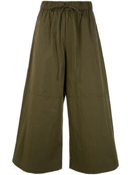 Yves Salomon укороченные брюки широкого кроя 20E20EYP042XXCOXW