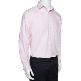 Yves Saint Laurent Pink Cotton Blend Long Sleeve Shirt M 289511