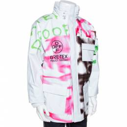 Off-White White Gore-Tex Spray Paint Logo Detail Ski Jacket S 289402
