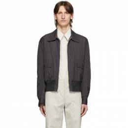 Lemaire Reversible Grey Straight Collar Blouson Jacket M 201 OW155 LF353