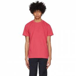 Moncler Red Cotton T-Shirt 8C720 - 10 - 8390T