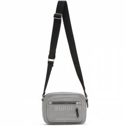 Burberry Grey Padded Logo Messenger Bag 8028632