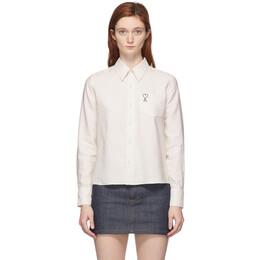 Ami Alexandre Mattiussi Off-White Ami De Coeur Pocket Shirt E20FC052.422