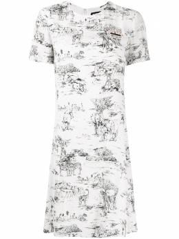 Markus Lupfer платье мини Josie Serengeti с пайетками DR1094