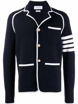 Thom Browne пиджак Milano с полосками 4-Bar MKJ048A00014