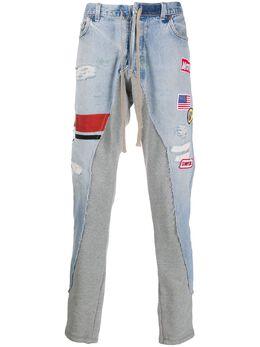 Greg Lauren джинсы с контрастными вставками SS20M208