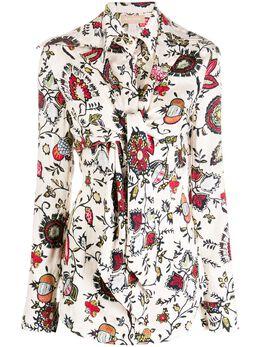 Materiel многослойная рубашка с цветочным принтом 7282SRFL