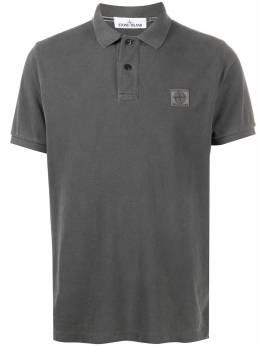 Stone Island рубашка поло с нашивкой-логотипом 721522S67