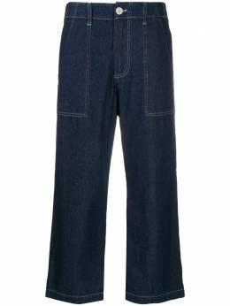 Jejia укороченные джинсы с контрастной строчкой 2839J1P004205069