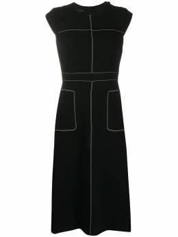Escada платье без рукавов с контрастной строчкой 5033530