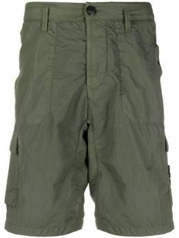 Stone Island шорты карго из сирсакера MO7215L1029