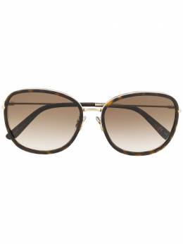Bottega Veneta Eyewear солнцезащитные очки в квадратной оправе BV0220SK002
